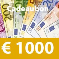 waardebon 1000 euro