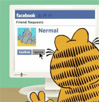 garfield facebook