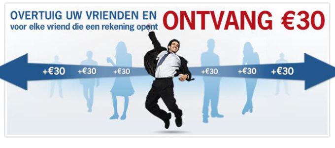 € 30 cadeau bij elke nieuwe gratis Keytrade rekening!