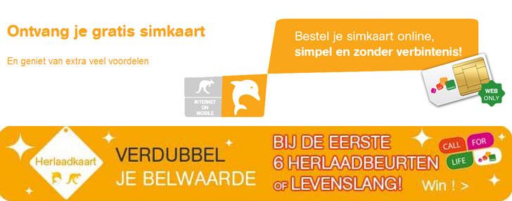 Mobistar SIM-kaart dubbele belwaarde levenslang