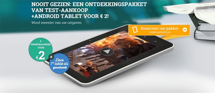 Test-Aankoop gratis tablet