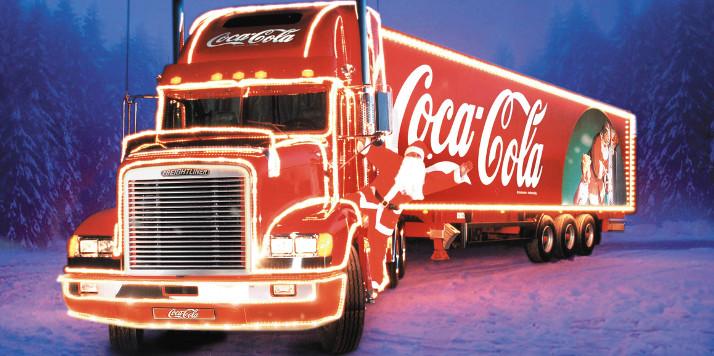 """Coca-Cola Weihnachtstruck. Weiterer Text über ots. Die Verwendung dieses Bildes ist für redaktionelle Zwecke honorarfrei. Abdruck bitte unter Quellenangabe: """"ots/Coca-Cola AG"""""""