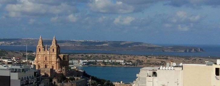 uitzicht kantoor Volo Media Malta
