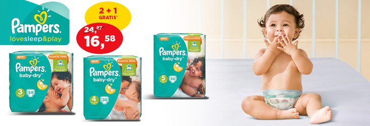 Promotie Baby-Dry Pampers Aldi