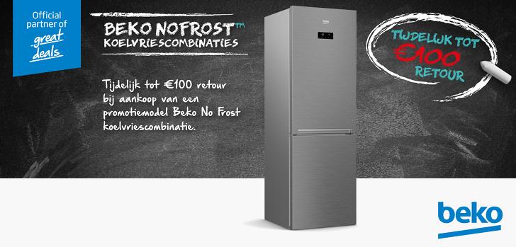 BEKO No Frost Wasmachine of koelvriescombinatie Krëfel Actie