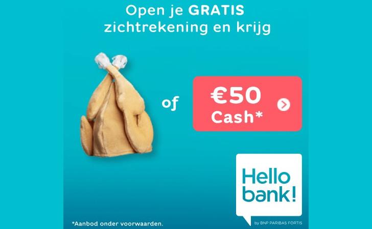 Gratis 50 Euro Hello Bank Zichtrekening Winteractie Kalkoenmuts