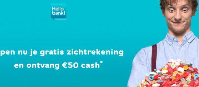 €50 cadeau van Hello bank!