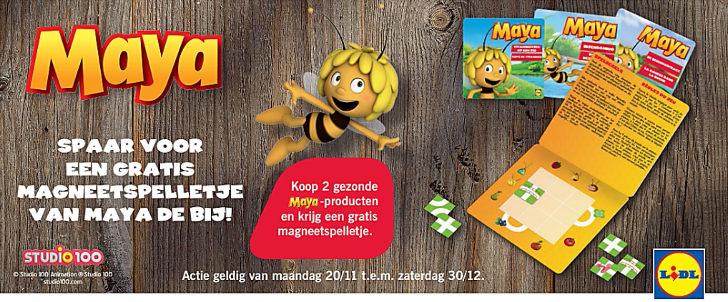 Gratis Magneetspelletje Maya de Bij Lidl