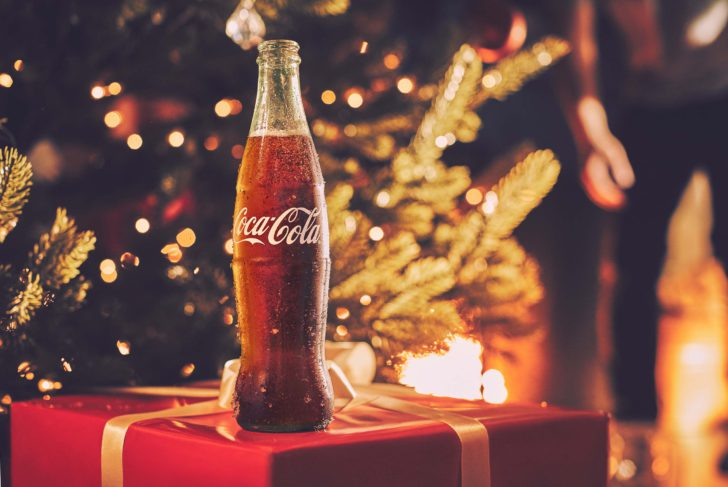 Coca-Cola gratis promo Kerstmis