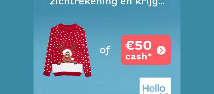 Kerstmis is… € 50 cash cadeau krijgen