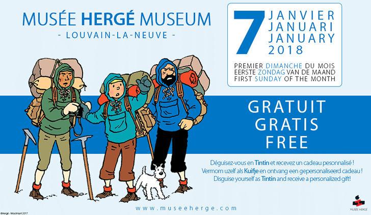 gratis museum bezoek hergé