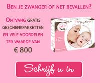 roze doos gratis geschenk nieuwe mama