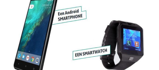 Android Smartphone of Smartwatch voor maar € 2