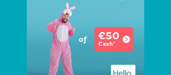 Zalig Pasen! Hello bank doet je € 50 cadeau