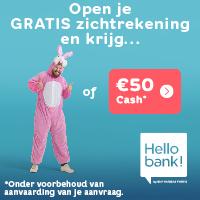 hello bank 50 euro paaskostuum