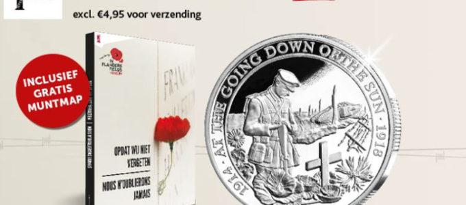 Gratis herdenkingsmunt van de Groote Oorlog