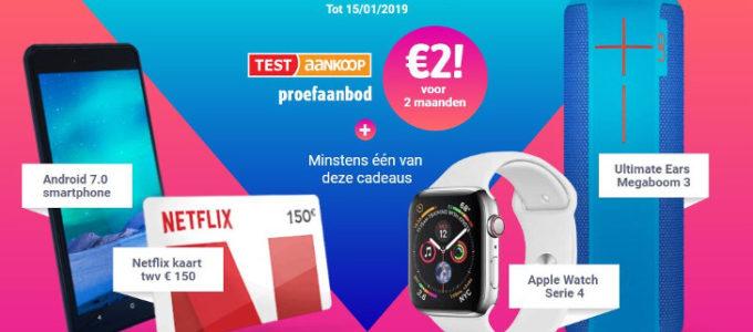 Gratis welkomstcadeau bij Test Aankoop voor maar € 2