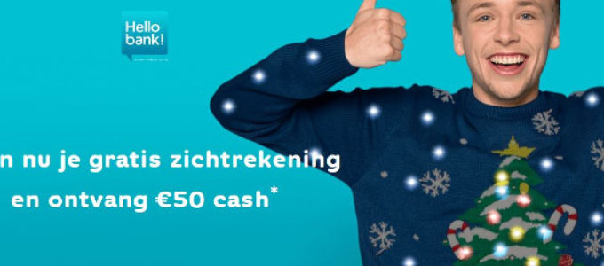 €50 cadeau van Hello bank! als kerstcadeau