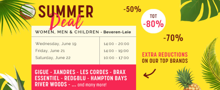 summer deal shopping event