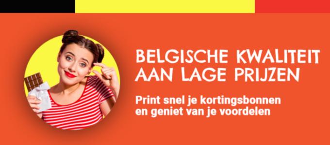 Kortingsbonnen voor 100% Belgische producten