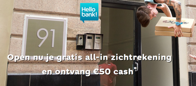 Gratis € 50 cash cadeau op je zichtrekening