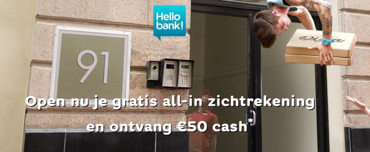 Hello bank 50 euro