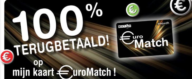 match 100% terugbetaald