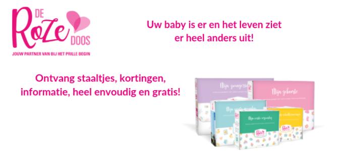 Gratis 'Roze Doos' babypakket met € 800 aan voordelen