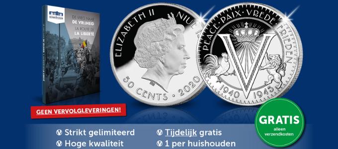 Gratis nationale herdenkingsmunt Belgisch Munthuis